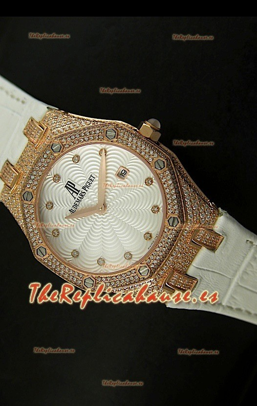 Audemars Piguet Royal Oak Reloj R 233 Plica De Mujer En Caja