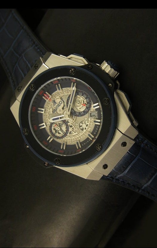 Hublot Big Bang King Reloj de Cuarzo Suizo en Acero Dial tipo Skeleton 45MM 125c55366a8f