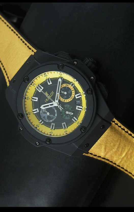 Hublot big bang yellow reloj de cuarzo suizo tipo skeleton - Tipos de relojes ...