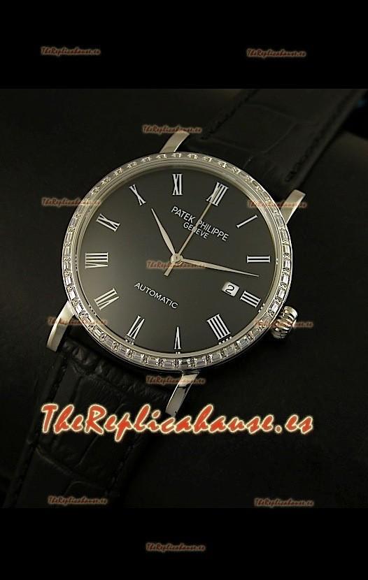 0fdcb3f7ae6 Patek Philippe Calatrava 5120 Reloj Réplica Suiza en Acero - Horas en  Números Romanos