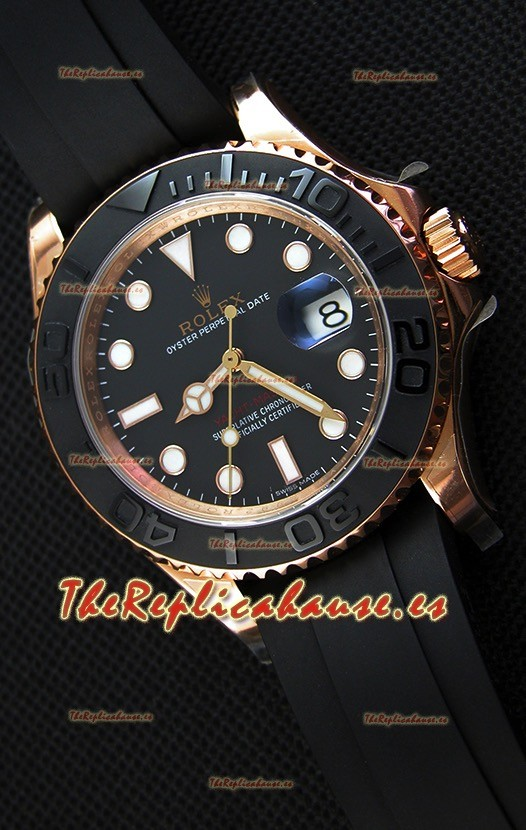 256b585f7fb Rolex Yachtmaster 116655 Reloj de Acero 904L a Espejo 1 1 Movimiento Suizo  Cal.3135 Everose 40MM