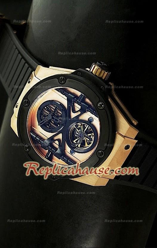 6545eed2db1d Hublot Big Bang Keng Power Tourbilon Reproducción Japonesa del Reloj en Oro  Rosa