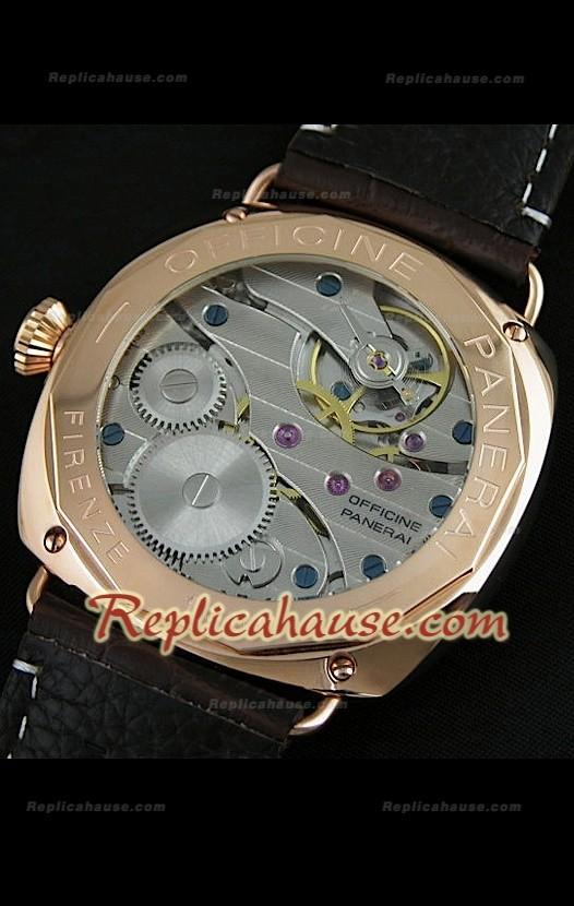 7650ff6beb60 Panerai Radiomir Reloj Suizo de Oro Rosa y Esfera Marrón RHSP2901 ...
