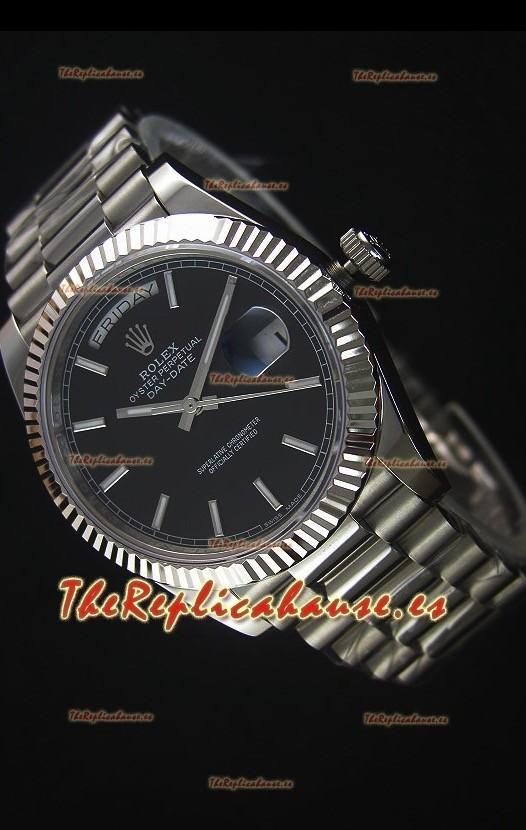 0d7bf8972b9 Rolex Day-Date Reloj Replica Acero Inoxidable 40MM Movimiento Suizo 2836-2