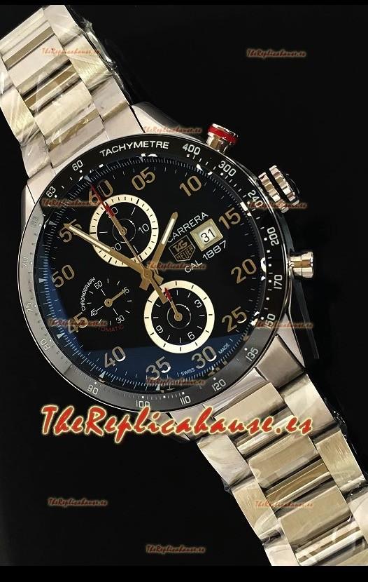 62257ac8f95 Tag Heuer Carrera Calibre 1887 Bisel de Cerámica Reloj Replica escala 1 1