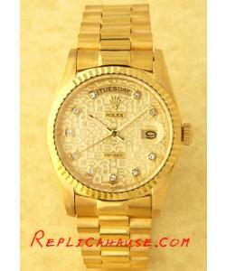 Rolex Réplica Day Date-Gold