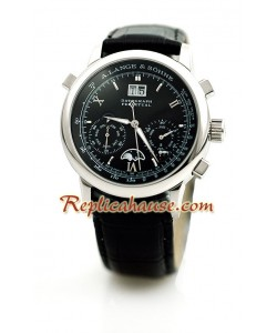 A. Lange Sohne Datograph Perpetual Leather Reloj