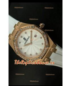 Audemars Piguet Royal Oak, Reloj de mujer, réplica de Cuarzo, caja color Oro Rosado