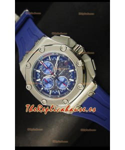 Audemars Piguet Royal Oak Offshore Michael Schumacher Reloj en color Azul con Movimiento de Cuarzo