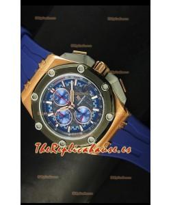 Audemars Piguet Royal Oak Offshore Michael Schumacher Reloj en Oro Rosado con Bisel de Cerámica