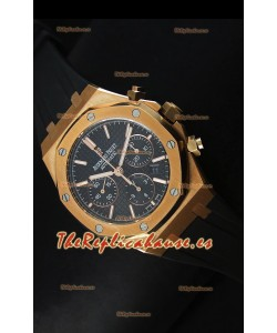 Audemars Piguet Royal Oak Reloj Cronógrafo en Oro Amarillo, Dial Negro