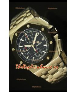 Audemars Piguet Royal Oak Offshore Reloj con Dial Negro - Caja de Acero