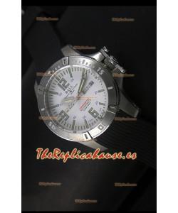 Ball Hydrocarbon Spacemaster Reloj Automático Day Date Correa de Goma con Dial Blanco - Movimiento Citizen Original