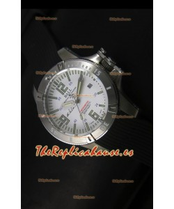Ball Hydrocarbon Spacemaster Reloj Automático Correa de Goma con Dial Blanco - Movimiento Citizen Original