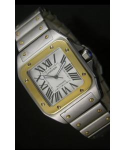 Cartier Santos 100 Reloj Suizo de 38.5MM - Ultima Edición Réplica a Escala 1:1