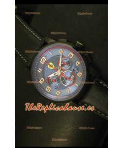 Scuderia Ferrari Heritage Reloj Cronógrafo Caja de Acero color Negro Dial Azul