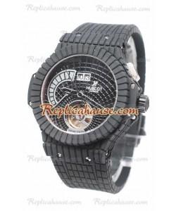 Hublot Black Caviar Tourbillon Bateria de Reserva Reloj