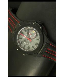 Hublot Big Bang Ferrari Reloj de Cuarzo Suizo Caja con revestimiento PVD