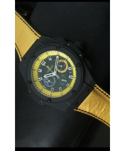 Hublot Big Bang Yellow Reloj de Cuarzo Suizo Tipo Skeleton 45MM