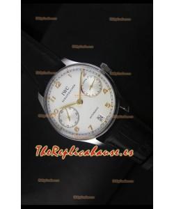 IWC Portugieser IW500704 Reloj Suizo Automático en Dial Blanco - Réplica Espejo Actualizada 1:1