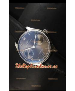 IWC Portugieser IW500703 Reloj Suizo Automático Dial Gris - Réplica Espejo 1:1 Actualizada