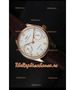 IWC Portugieser IW500701 Reloj Suizo Automático en Dial Blanco - Réplica Espejo Actualizada 1:1