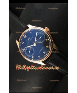 IWC Portugieser IW500702 Reloj Suizo Automático Dial Negro - Réplica Espejo 1:1 Actualizada