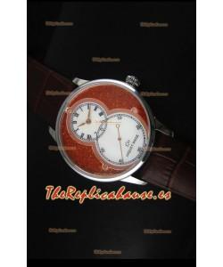 Jaquet Droz Grande Seconde Reloj de Acero Inoxidable Dial en Rojo