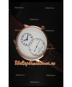 Jaquet Droz Grande Seconde Ivory Enamel Reloj con Caja en Oro Rosado Dial Blanco