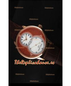 Jaquet Droz Grande Seconde Reloj en Oro Rosado Dial en Rojo