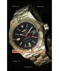 Breitling Avenger Seawolf, Reloj Réplica Suiza con manecilla segundera color rojo, en escala 1:1