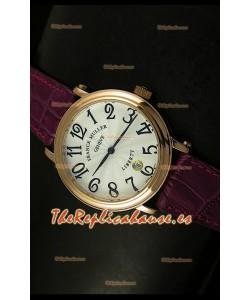 Franck Muller Master of Complications Liberty, Reloj Japonés, correa color granate