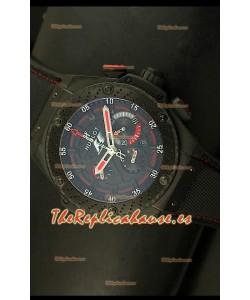 Hublot Big Bang King Power Formula 1, Reloj Suizo caja con recubrimiento PVD, réplica escala 1:1