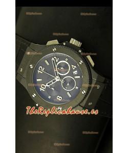 Hublot Big Bang Black, Reloj con caja de Cerámica Negra, con Movimiento de Cuarzo