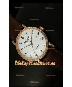Patek Philippe Calatrava 5120 Reloj Réplica Suiza en Oro Rosado - Horas en Números Romanos