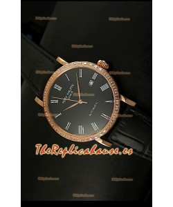 Patek Philippe Calatrava 5298 Reloj Réplica Suiza en Oro Rosado - Horas en Números Romanos