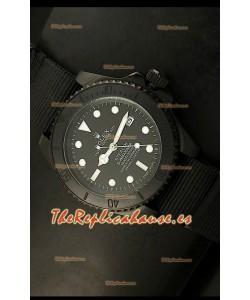 Rolex Submariner Edición STEALTH Reloj Réplica Suiza, correa negra