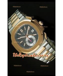 Patek Philippe Nautilus 5980 Reloj Suizo cronógrafo en Dos Tonos - réplica en escala 1:1