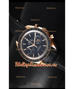 40c1a1fba134 Omega Speedmaster Moon Reloj Réplica Japonés Co-Axial Caja en Oro Rosado