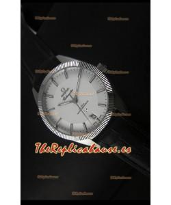 Omega Globemaster Reloj Suizo Co-Axial Dial Blanco Acero Inoxidable - Reloj Réplica Espejo 1:1