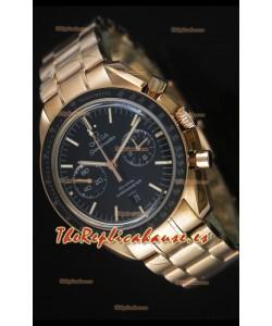 Omega Speedmaster Moon Reloj Suizo Co-Axial en Oro Rosado - Réplica Espejo 1:1
