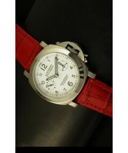 Panerai Luminor Chronograph PAM310 Reloj Cronógrafo Dial Blanco 40MM