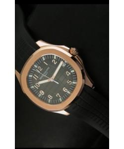 Patek Philippe Aquanaut Reloj en Oro Rosado y Dial Gris - Réplica a escala 1:1