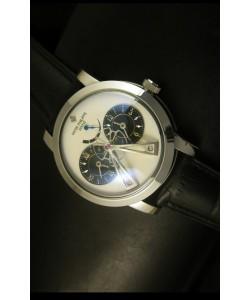 Patek Philippe Sub Dial Dual Reloj con Movimiento Japonés