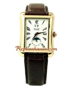 Piaget Black Tie Emperador Fases Lunares Reloj Réplica