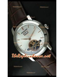 Edición japonesa del reloj de esfera negra Audemars Piguet Jules Audemars, con manecillas de oro.