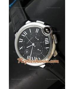 Ballon De Cartier Reproducción Reloj Suizo   - Automático de 42MM con Esfera de color Negro