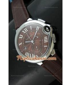 Ballon De Cartier Reproducción Reloj Suizo  - Automático de 42MM con Esfera Marrón