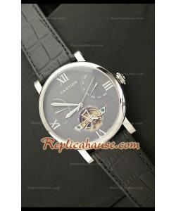 Cartier Tourbllon Reproducción Japonesa del Reloj con Esfera Gris