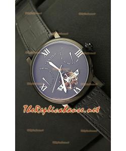Cartier Calibre Tourbilon Reloj Japonés con Esfera Negra